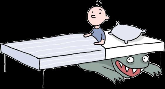 ילד על המיטה